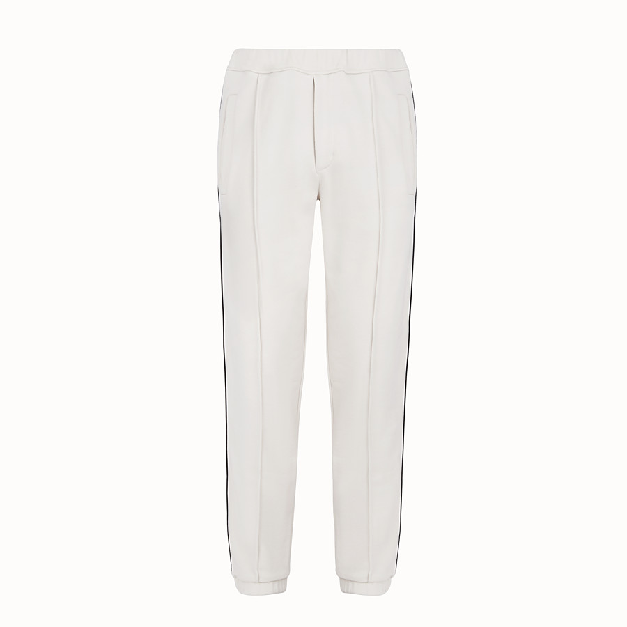 FENDI TROUSERS - Grey jersey trousers - view 1 detail