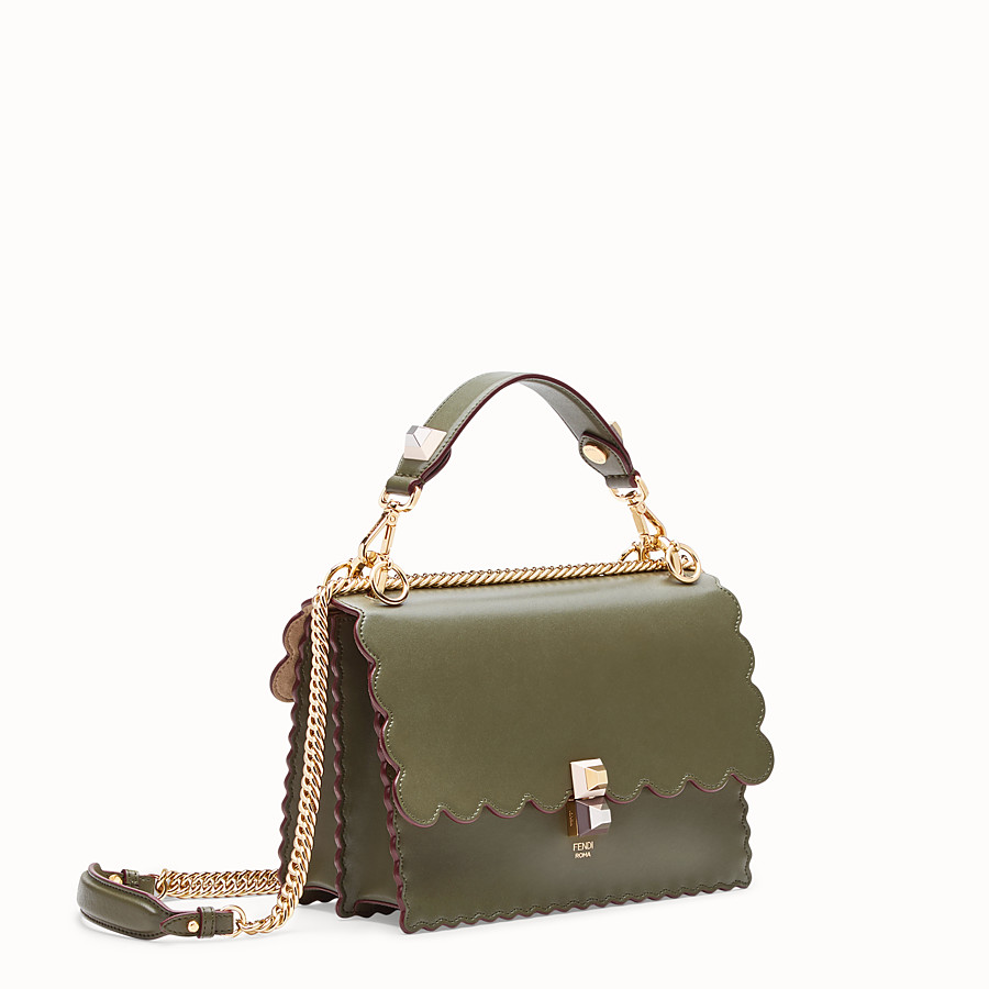 FENDI KAN I - Green leather bag - view 2 detail