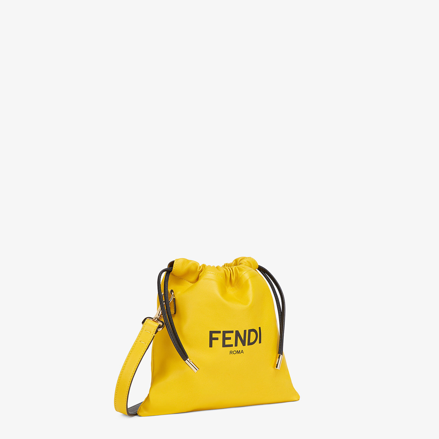 FENDI FENDI PACK SMALL POUCH - Yellow nappa leather bag - view 2 detail