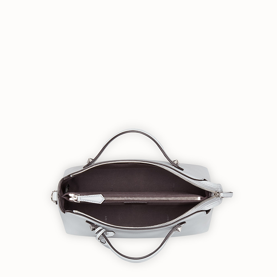 FENDI BY THE WAY REGULAR - Grey leather Boston bag - view 4 detail