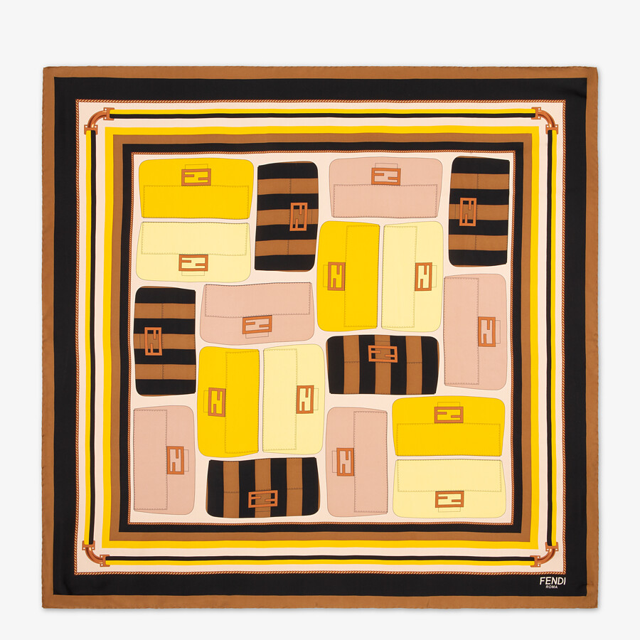 FENDI FENDI FOULARD - Multicolor silk foulard - view 1 detail