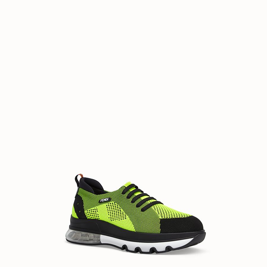 FENDI SNEAKER - Niedriger Sneaker aus Strick Mehrfarbig - view 2 detail