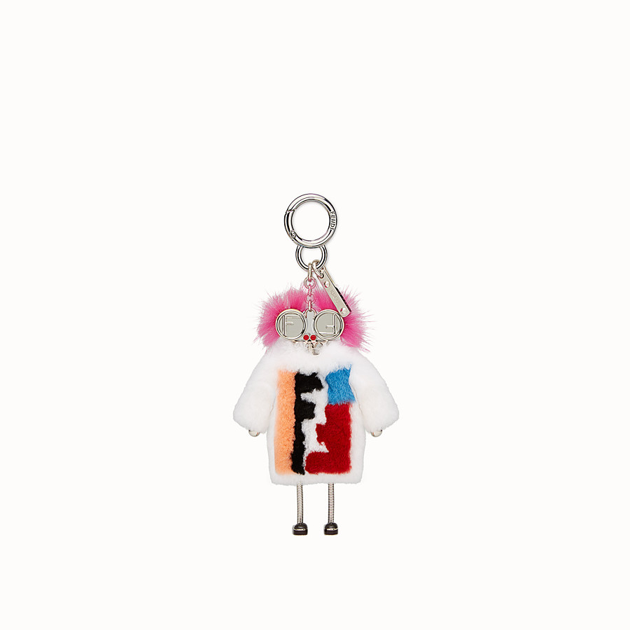FENDI TEEN WITCHES CHARM - Charm in white rabbit fur - view 2 detail
