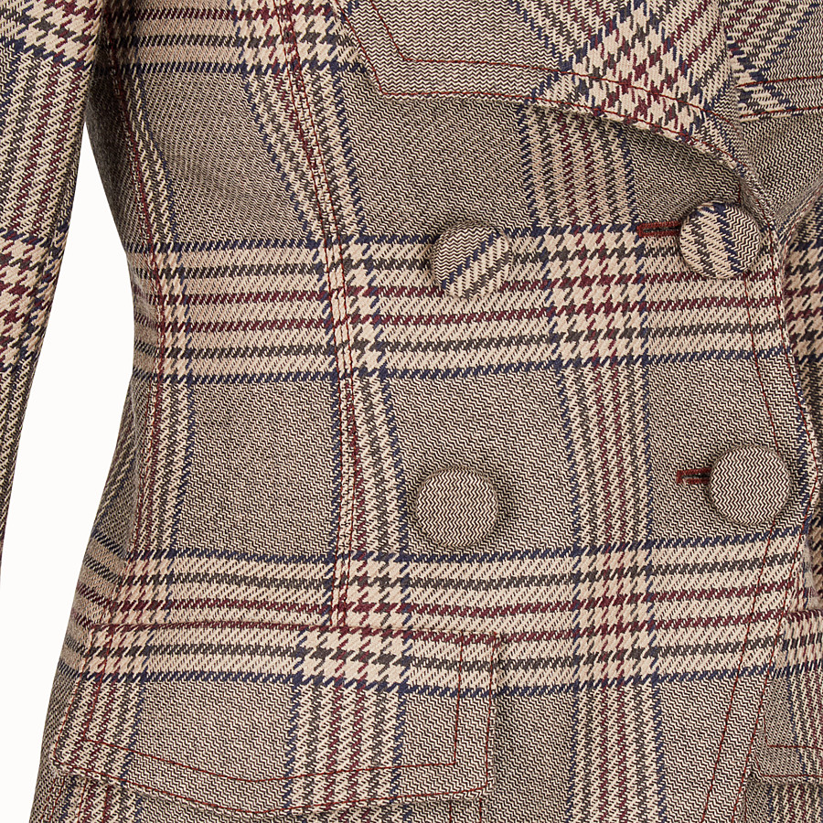 FENDI JACKET - Prince of Wales check wool jacket - view 3 detail