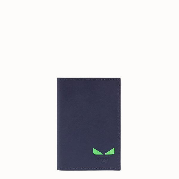 FENDI PASSPORT COVER - Blue leather passport cover - view 1 small thumbnail