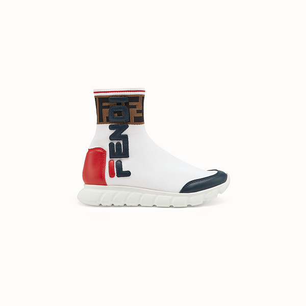 FENDI SNEAKERS - White mesh shoes - view 1 small thumbnail