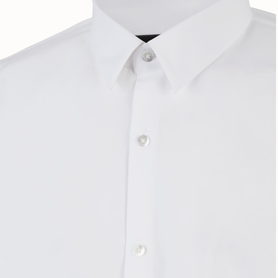 FENDI SHIRT - White cotton shirt - view 3 detail