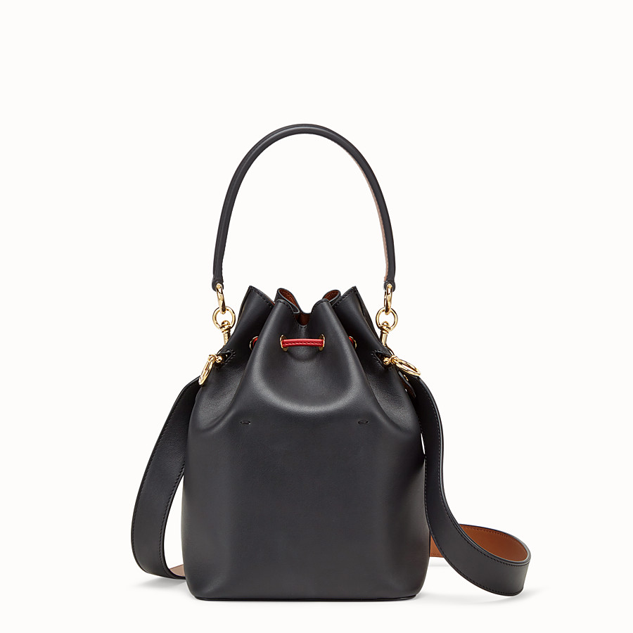 FENDI MON TRESOR - Black leather bag - view 4 detail