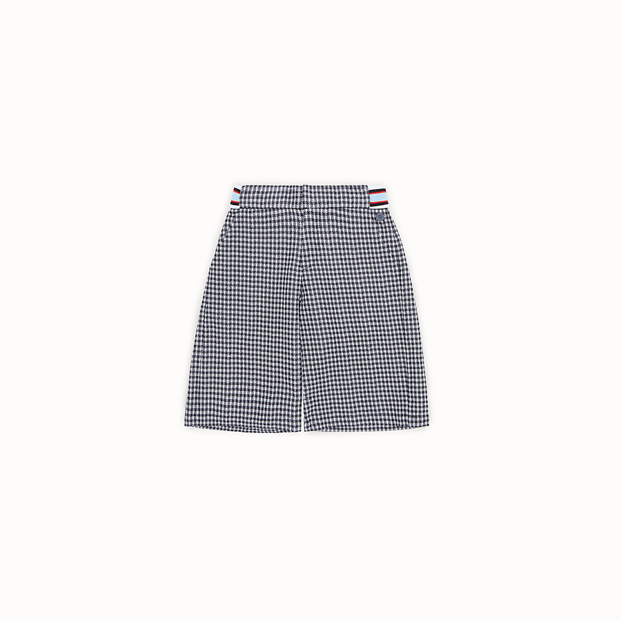 FENDI BERMUDAS - Checked Milano-stitch Bermudas - view 1 detail