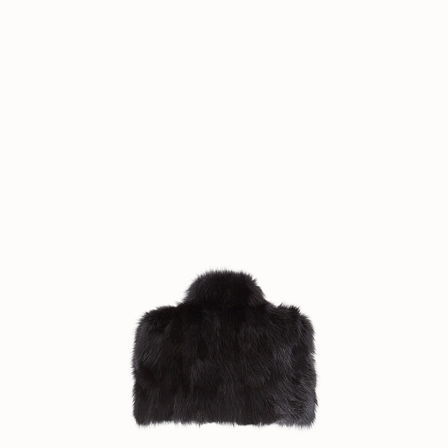 FENDI CAPE - Black fur cape - view 2 detail