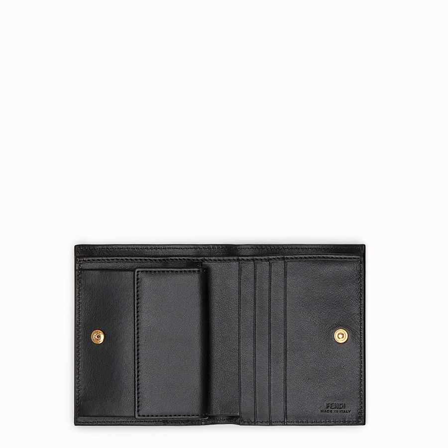 FENDI BIFOLD - Black leather compact wallet - view 4 detail