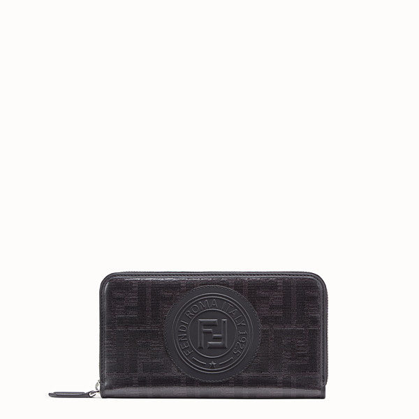 FENDI ZIP-AROUND - Black fabric wallet - view 1 small thumbnail