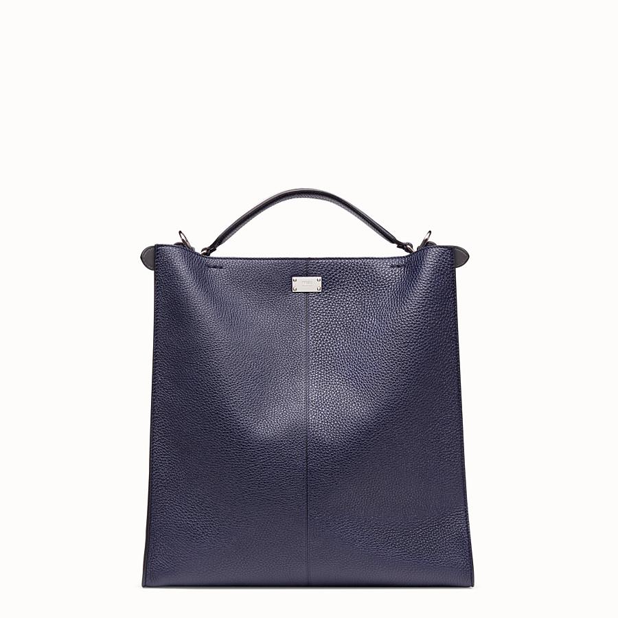 FENDI PEEKABOO X-LITE FIT - Blue calf leather bag - view 4 detail
