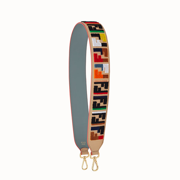 FENDI STRAP YOU - Textured-effect leather shoulder strap - view 1 small thumbnail