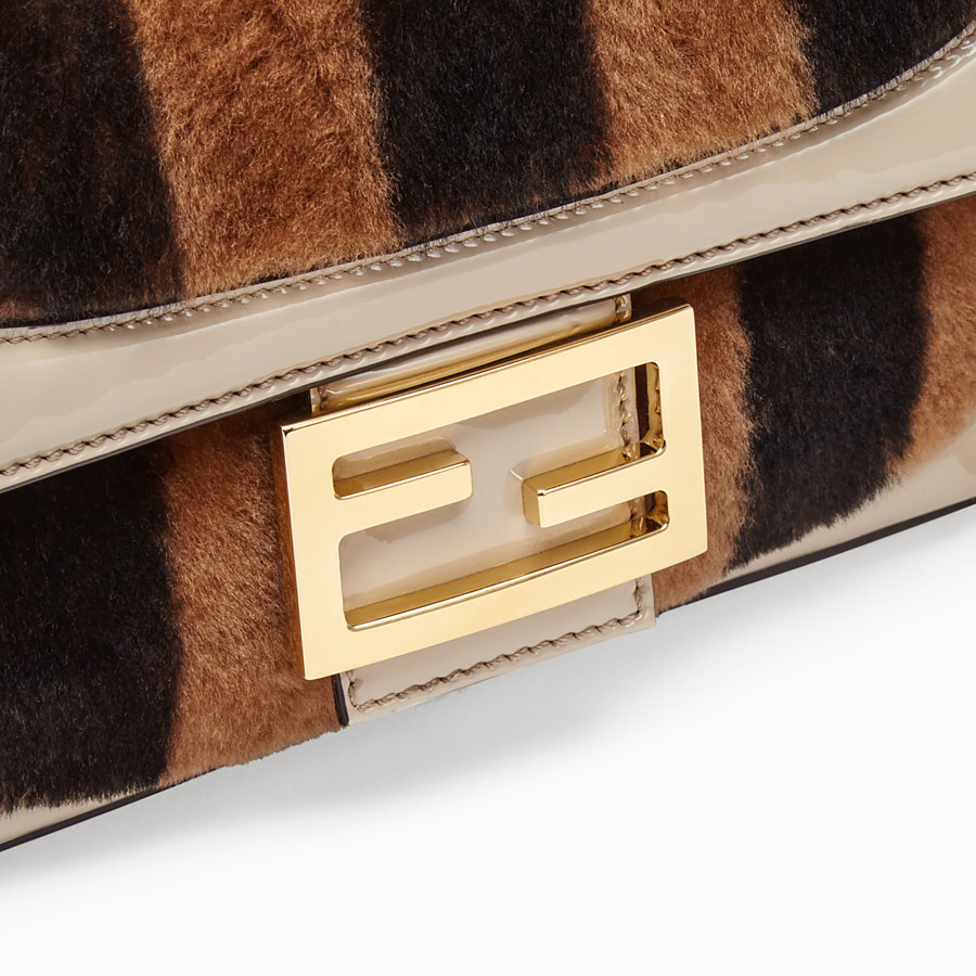 FENDI BAGUETTE - Multicolour, patent leather and sheepskin bag - view 6 detail