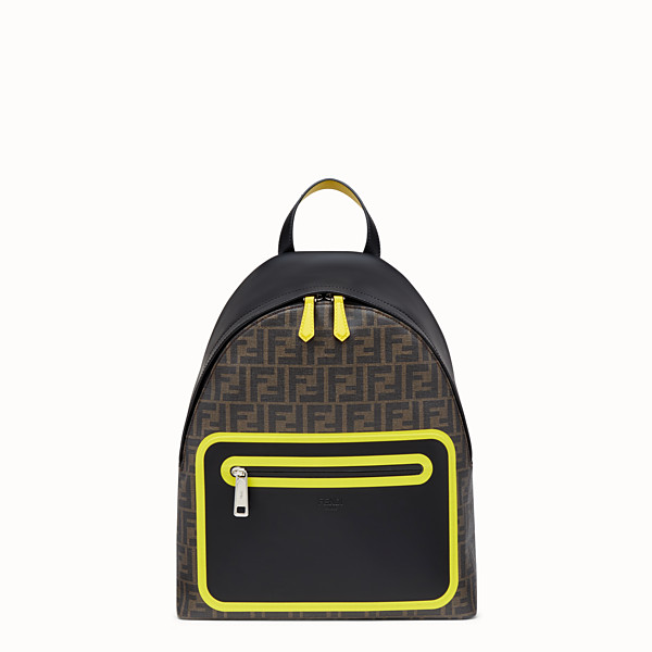 FENDI BACKPACK - Brown fabric backpack - view 1 small thumbnail