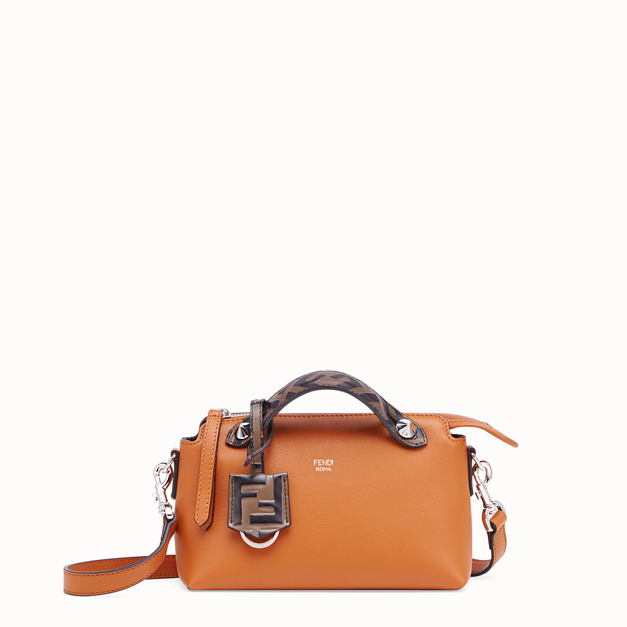 FENDI BY THE WAY MINI - Small brown leather Boston bag - view 1 detail