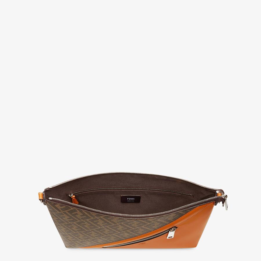 FENDI MESSENGER - Brown fabric bag - view 4 detail