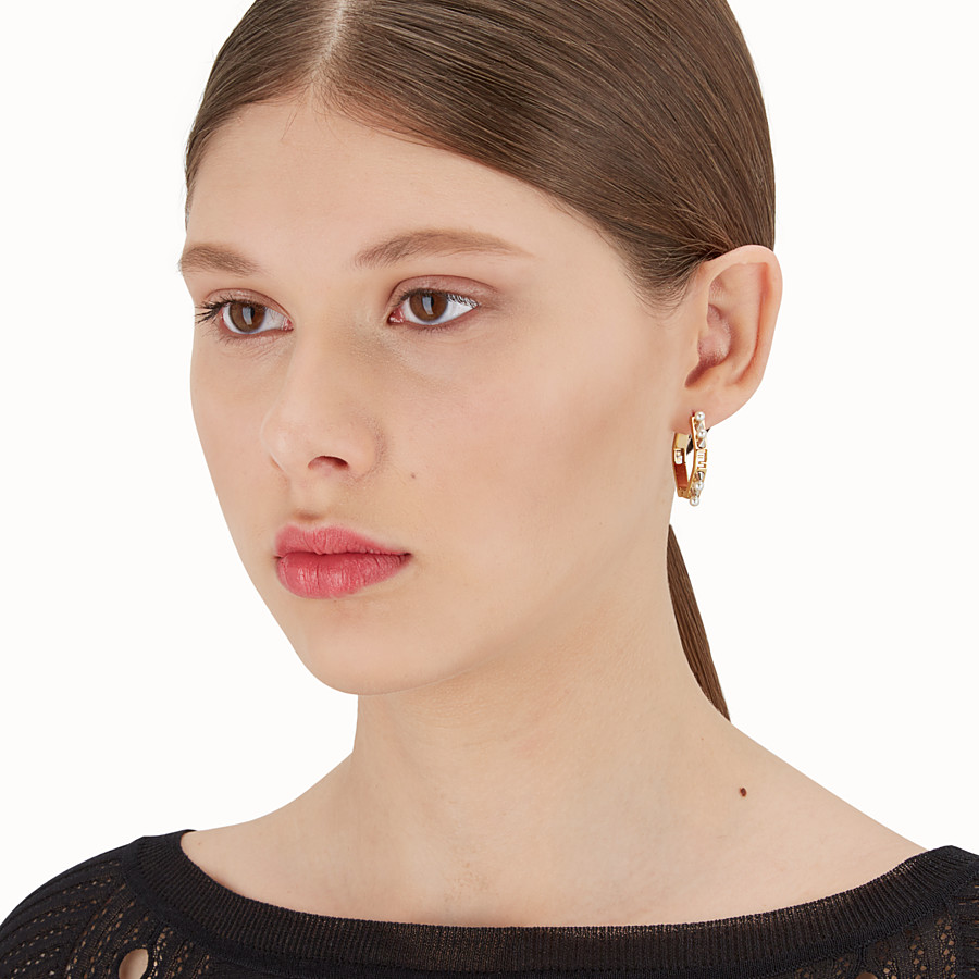 FENDI BAGUETTE EARRINGS - Gold colour earrings - view 2 detail