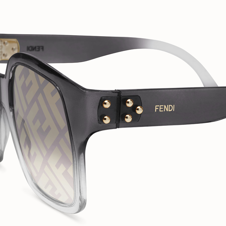 FENDI FENDI DAWN - Gradient effect injection-moulded sunglasses with FF logo - view 3 detail