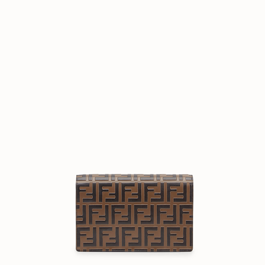 FENDI WALLET ON CHAIN - Black leather mini-bag - view 4 detail