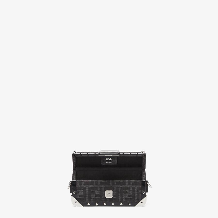 FENDI BAGUETTE TRUNK MINI - FF jacquard fabric bag - view 4 detail