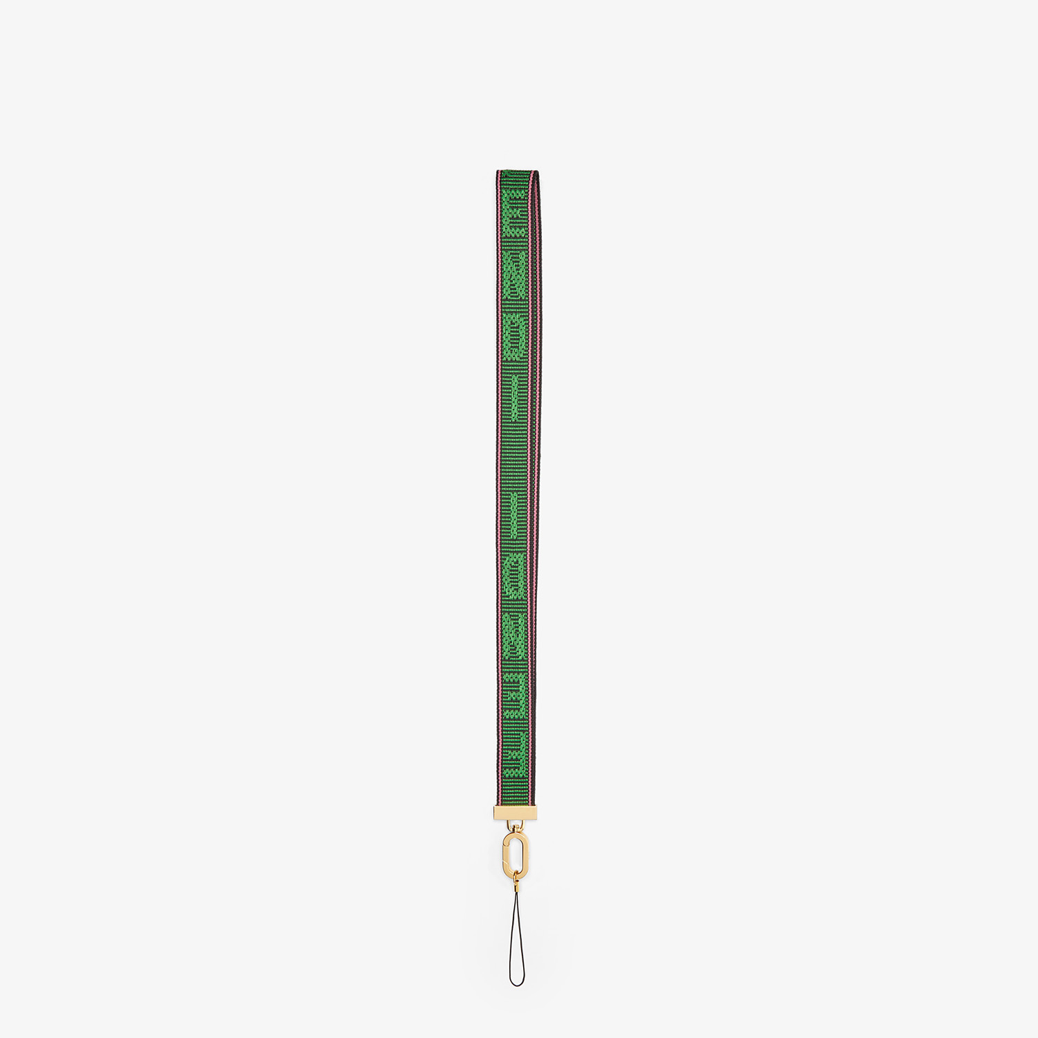 FENDI STRAP FOR SMARTPHONE - Green ribbon strap - view 1 detail