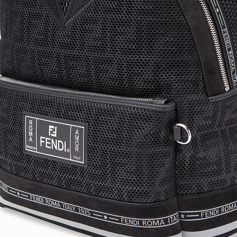 FENDI BACKPACK - Black tech fabric backpack - view 4 detail