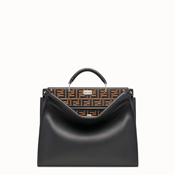 FENDI PEEKABOO FIT - Borsa in pelle nera - vista 1 thumbnail piccola