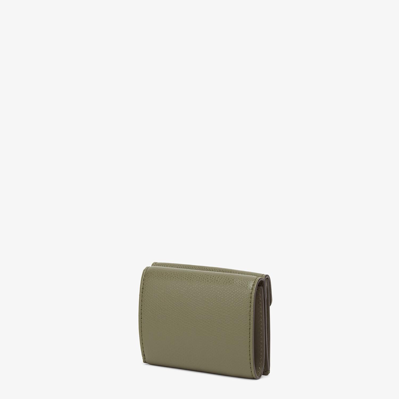 FENDI MICRO TRIFOLD - Portemonnaie aus Leder in Grün - view 2 detail
