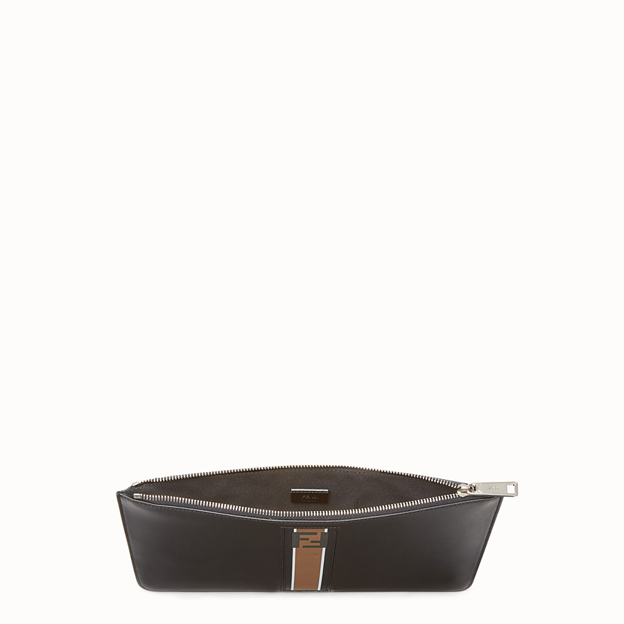 FENDI POUCH - Black leather pochette - view 3 detail