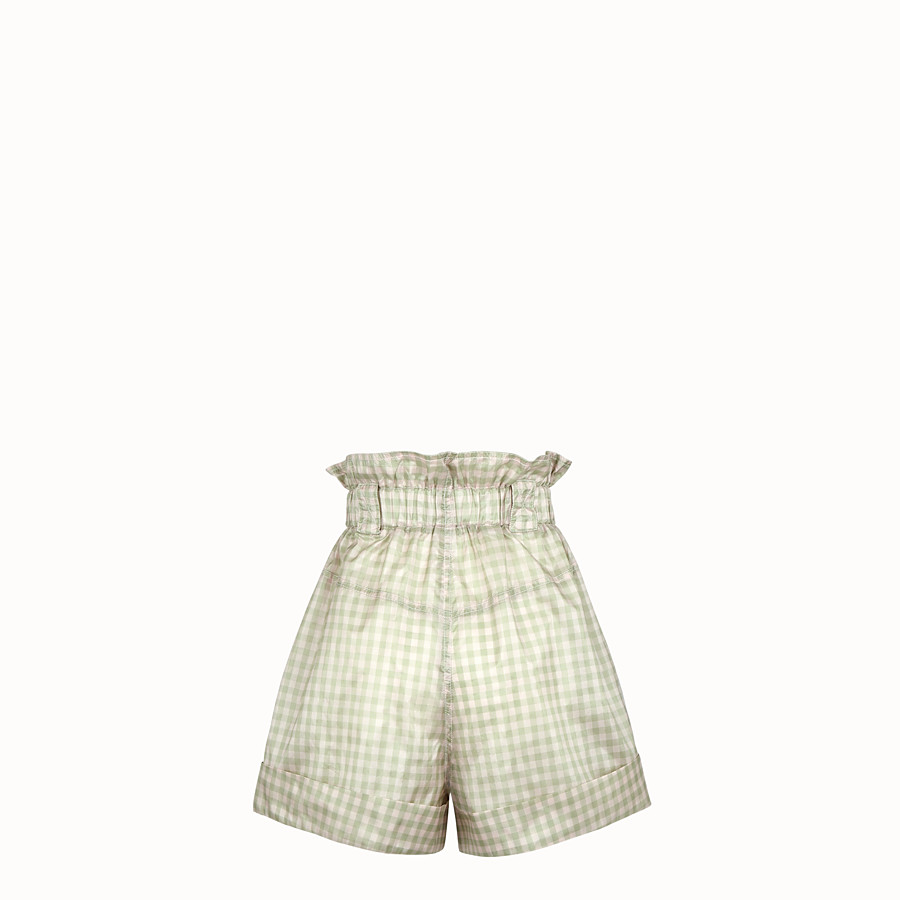 FENDI SHORTS - Vichy silk shorts - view 2 detail