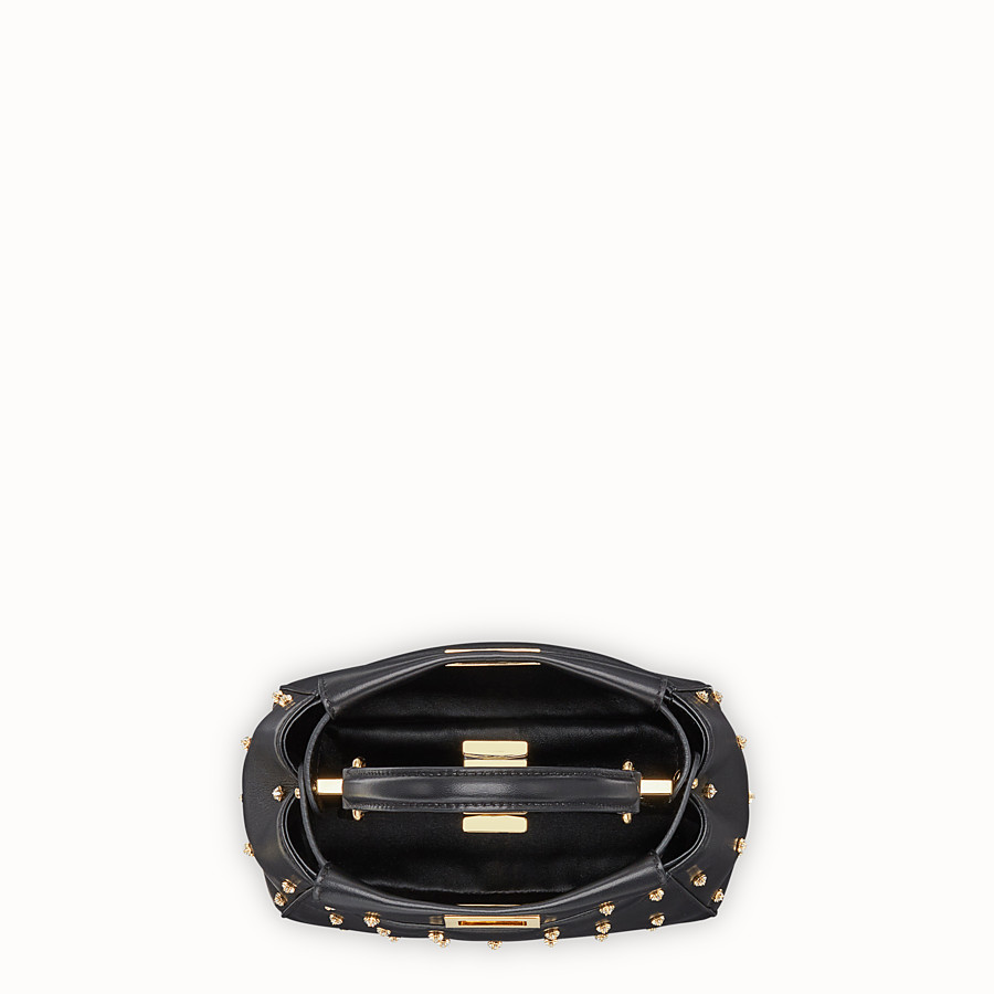 FENDI PEEKABOO ICONIC XS - Black leather mini-bag - view 4 detail