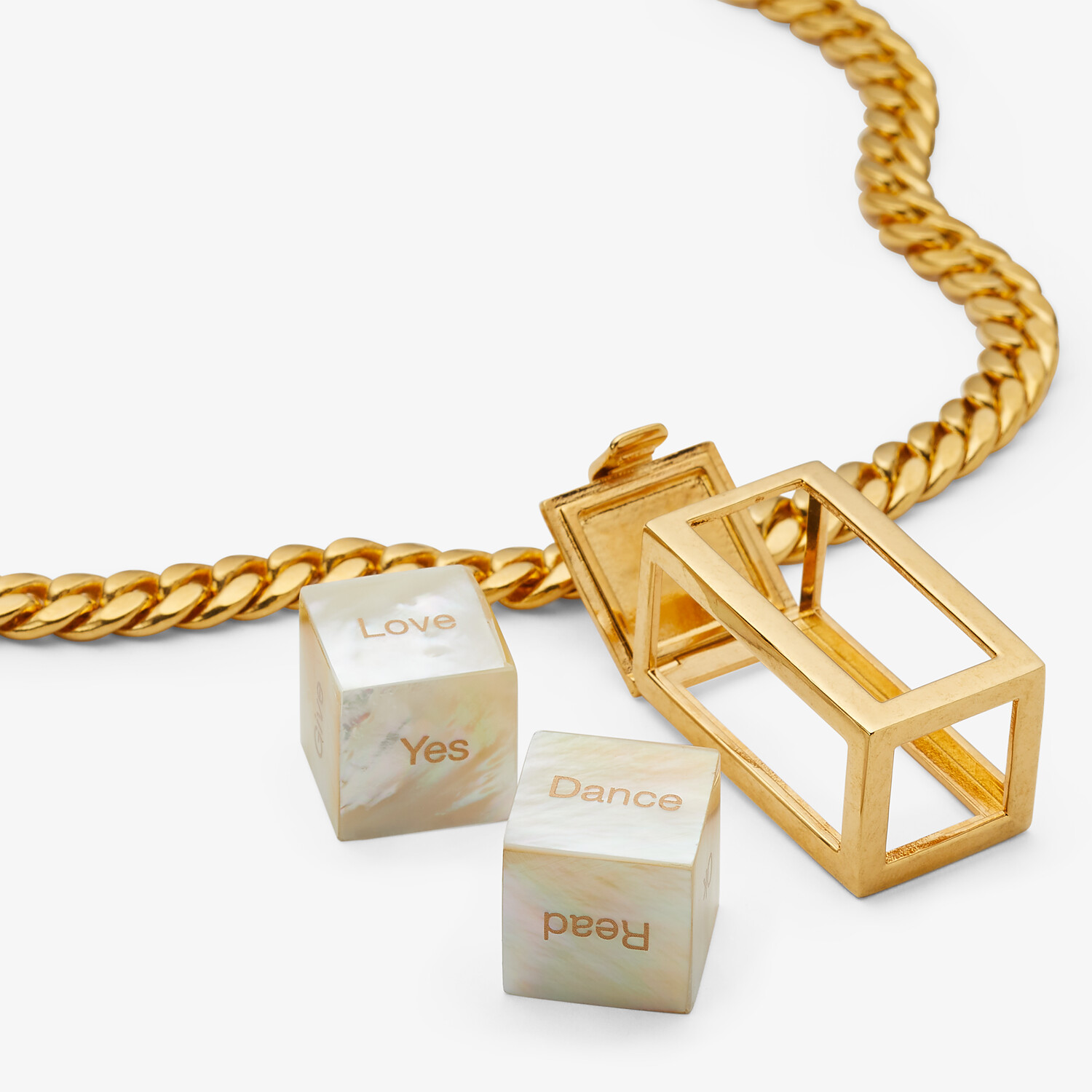 FENDI SIGNATURE NECKLACE - Gold-colored necklace - view 2 detail