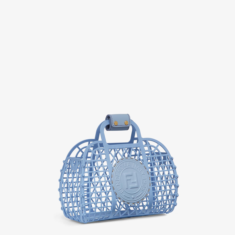 FENDI FENDI BASKET SMALL - Light blue recycled plastic mini-bag - view 3 detail