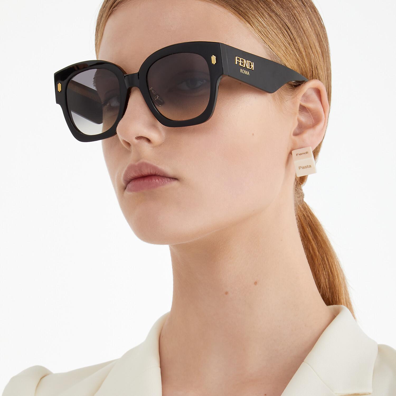 FENDI FENDI ROMA - Black acetate sunglasses - view 4 detail