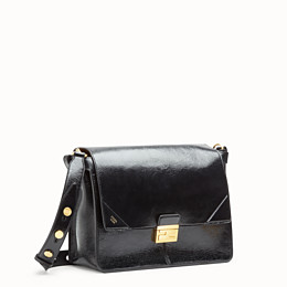 FENDI KAN U LARGE - Black leather bag - view 2 thumbnail