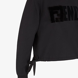 FENDI SWEATSHIRT - Black jersey sweatshirt - view 3 thumbnail