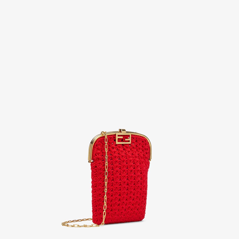 FENDI BAGUETTE PHONE BAG - Red fabric mini-bag - view 2 detail