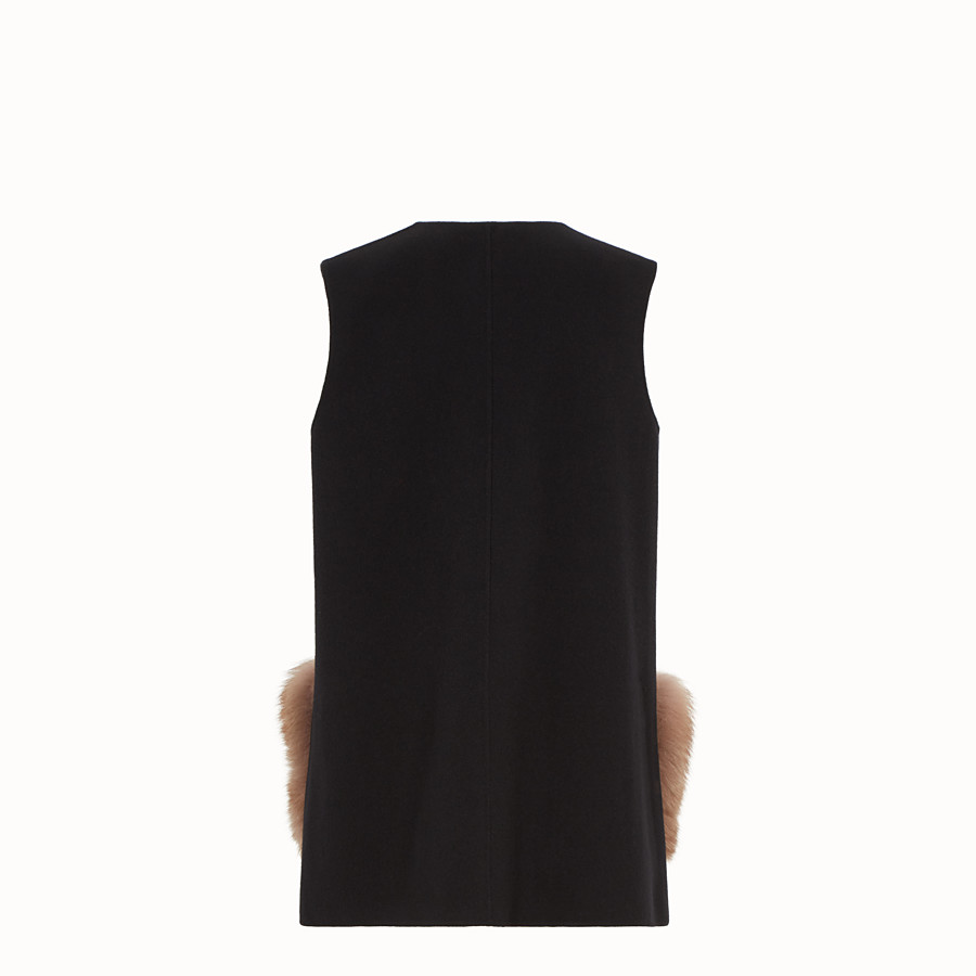 FENDI GILET - Black wool gilet - view 2 detail