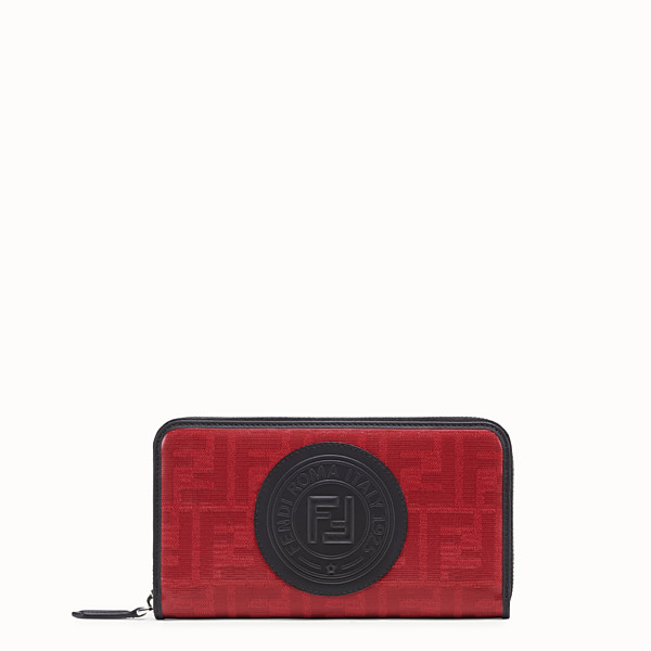 FENDI ZIP-AROUND - Red fabric wallet - view 1 small thumbnail