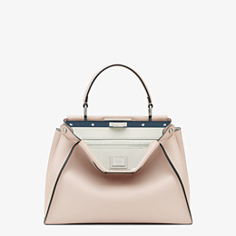 FENDI PEEKABOO ICONIC MEDIUM - Pink leather bag - view 1 thumbnail