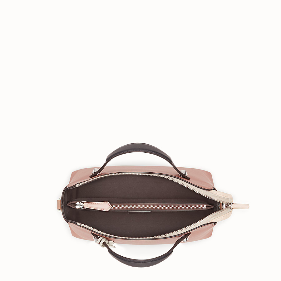 FENDI BY THE WAY REGULAR - Pink leather Boston bag - view 4 detail