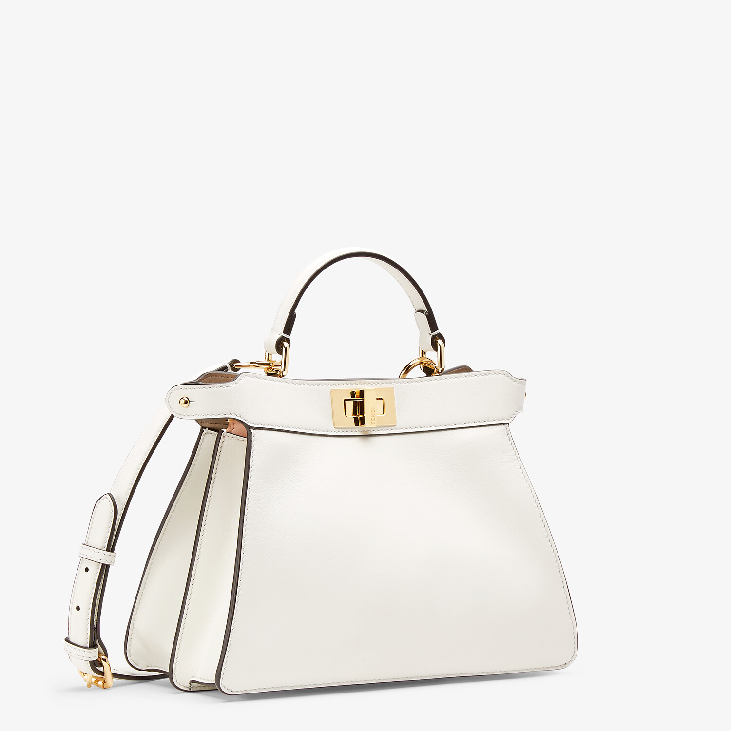 FENDI PEEKABOO ISEEU SMALL - White leather bag - view 3 detail