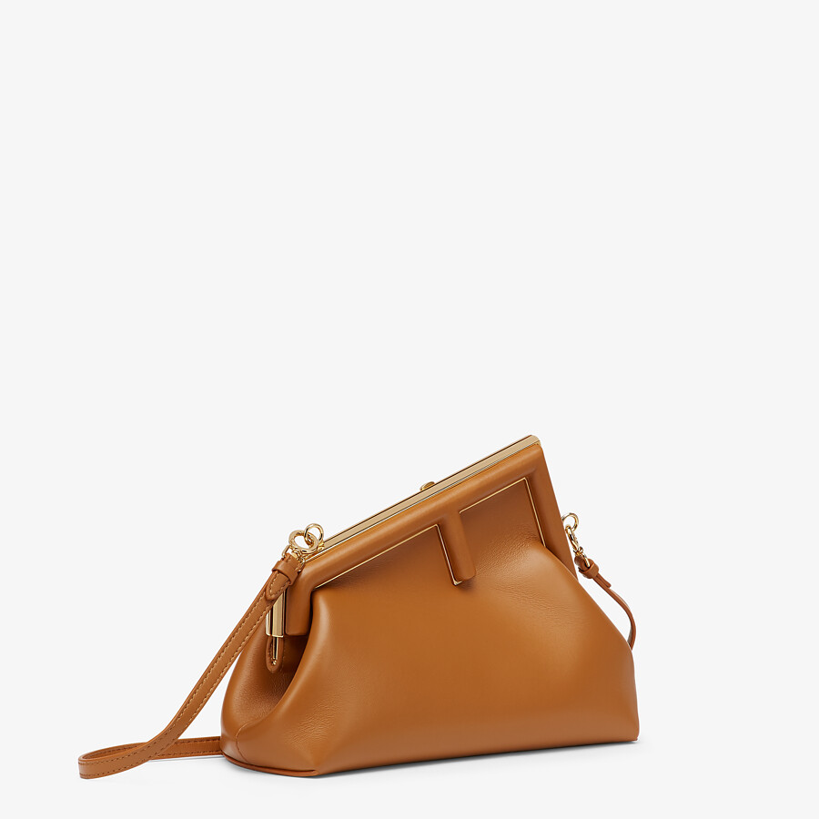 FENDI FENDI FIRST SMALL - Brown leather bag - view 2 detail