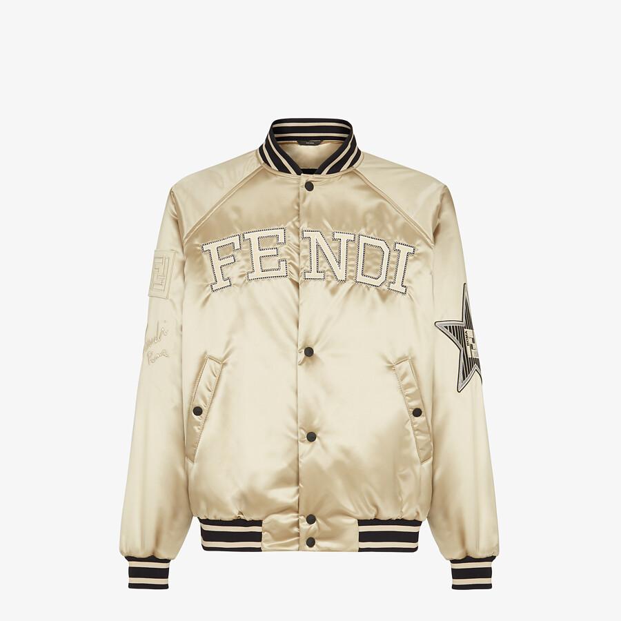 FENDI BOMBER JACKET - Champagne satin jacket - view 1 detail