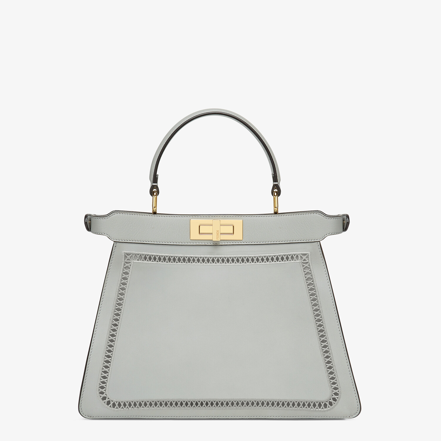 FENDI PEEKABOO ISEEU MEDIUM - Embroidered gray leather bag - view 6 detail