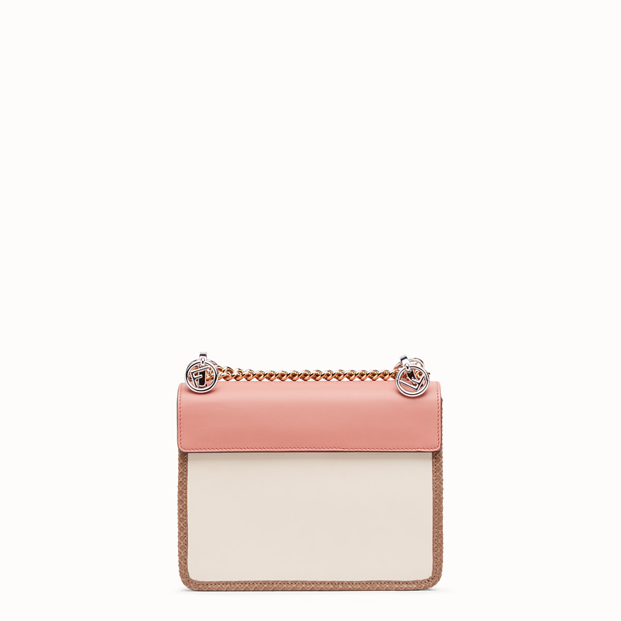 FENDI KAN I LOGO SMALL - Pink leather mini-bag - view 3 detail