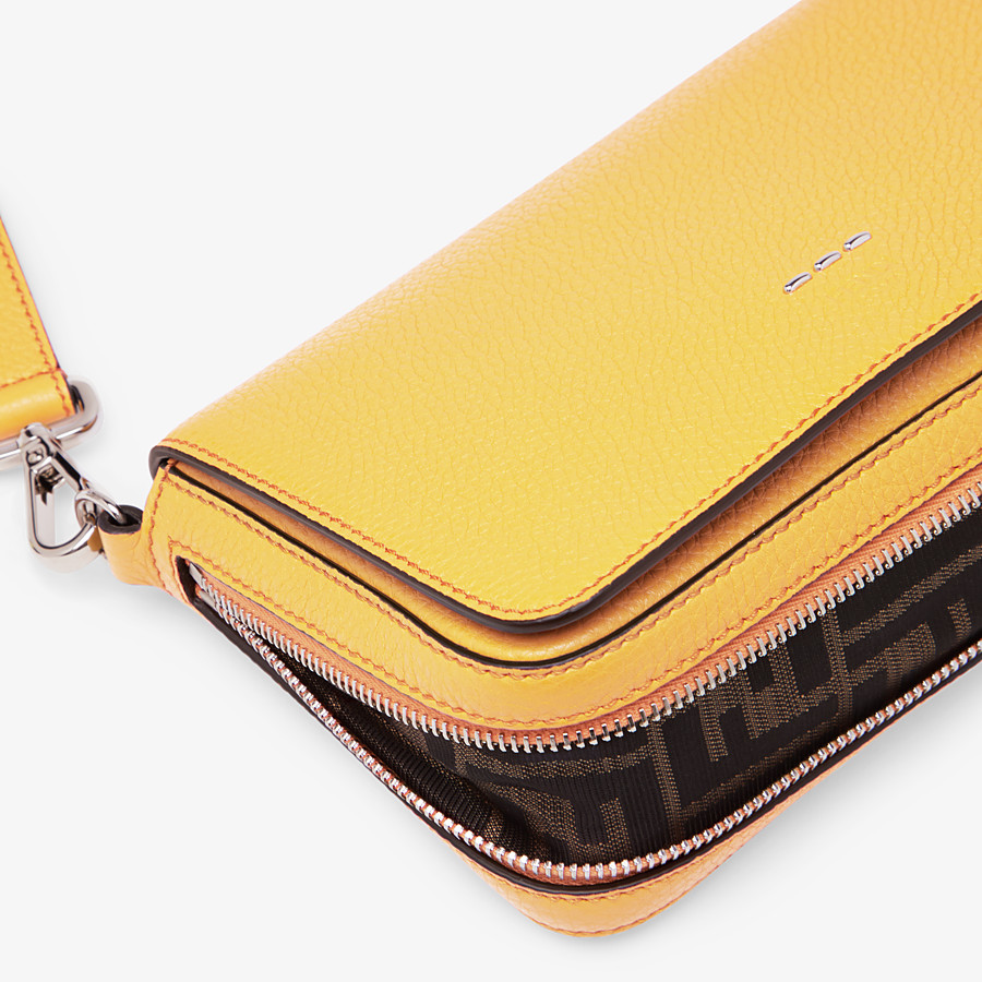 FENDI FLAP BAG - Yellow leather bag - view 6 detail