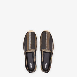 FENDI ESPADRILLES - Brown fabric espadrilles - view 4 thumbnail